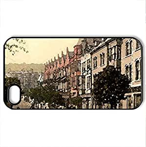 Colwyn Bay 1890 - Case Cover for iPhone 4 and 4s (Watercolor style, Black)