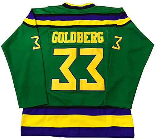 (Kooy Greg Goldberg #33 Mighty Ducks Movie Hockey Jersey (M))