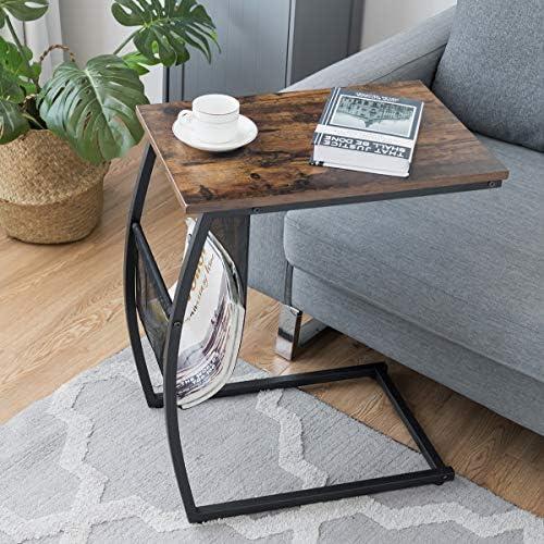 Tangkula Sofa Side End Table
