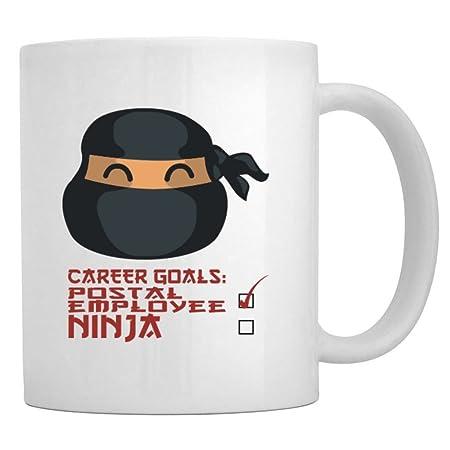 Teeburon Career Goals Postal Employee Ninja Taza: Amazon.es ...
