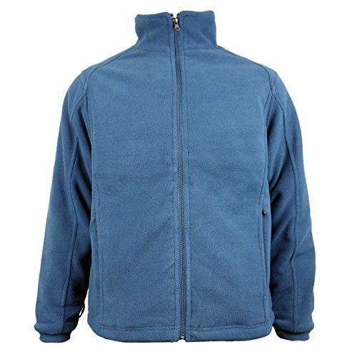 Chill Gamma Con Uomo Da Lavoro blue Invernale Pile Giacca Teal Anti Calda In Pelucchi Zip FwtTPxq7