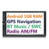 Panlelo S1 2 DIN Android Car Stereo Car Navigation Auto Radio AM/FM 7 inch Touch Screen Head Unit Quad Core BT Steering Wheel Control Music/Video Player SubOutput 1GB RAM 16GB ROM Built-in WiFi