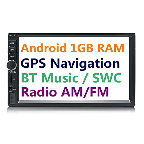Panlelo S1 2 DIN Android Car Stereo Car Navigation Auto Radio AM/FM 7 inch Touch Screen Head Unit Quad Core BT Steering Wheel Control Music/Video Player SubOutput 1GB RAM 16GB ROM Built-in WiFi ()