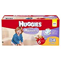 Huggies Little Movers Diapers, Size 6 Giant Pack, 84 Count