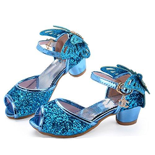 Melissa Wilde Girls Sandals Princess Shoes Children High Heels Wedge Butterfly Glitter Kids