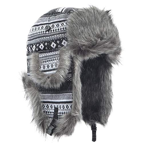 5df22491359849 Janey&Rubbins Russian Soviet Ushanka Cossack Aviator Bomber Hat Winter Fur  Earflap Cap