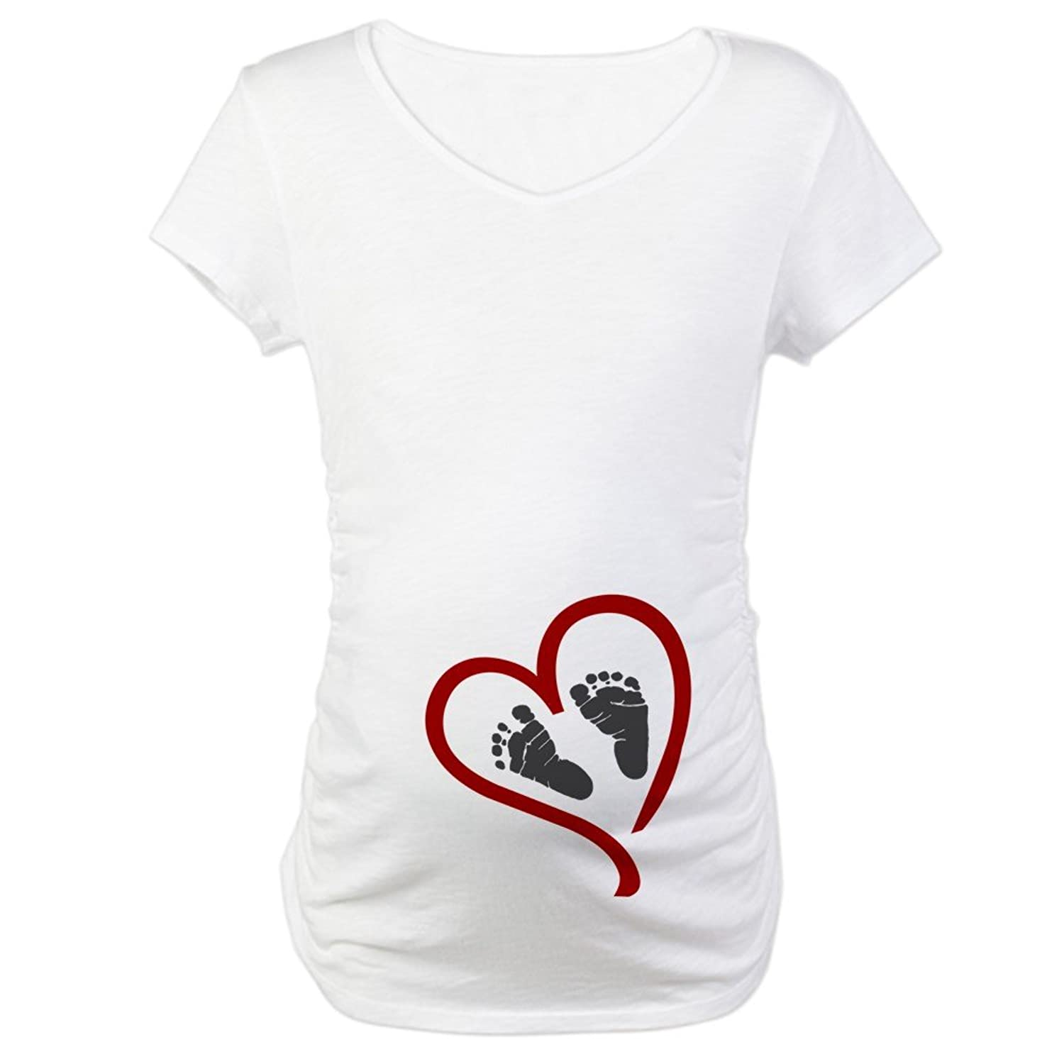 Amazon.com: CafePress   Baby Heart Feet Red Maternity T Shirt   Cotton  Maternity T Shirt, Cute U0026 Funny Pregnancy Tee: Clothing