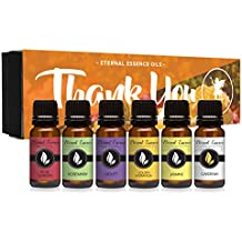 Thank You Gift Set of 6 Premium Grade Fragrance Oils - Rose Garden, Violet, Golden Hydrangea, Sunflower, Gardenia, Jasmine - 10Ml - Scented Oils