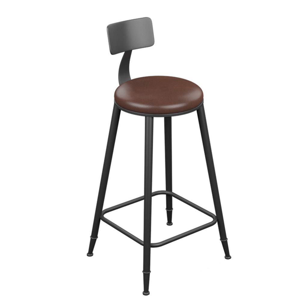 A SYF Barstools Bar Stool Retro Industrial Style Bar Stool Solid Wood Bar Chair Furniture High Stool Kitchen Bar Stool 94x46x46CM A+ (color   A)