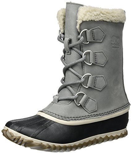 SOREL Women's Caribou Slim Snow Boot, Quarry, 8 M US
