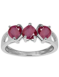 2.05 Ct Natural Ruby Solid 925 Sterling Silver Wedding Anniversary Heart Women's Ring