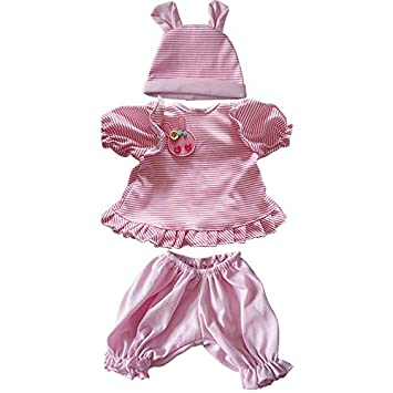Reborn Baby Newborn Dress Red Skirt Suit for 20-22 inch Doll for Clothes 2018 #