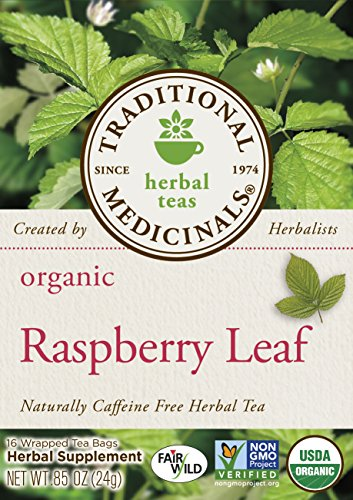 Traditional Medicinals Organic Raspberry Leaf Tea, 16 Tea Bags (Pack of 6) - incensecentral.us