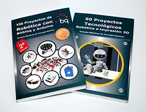 Pack 2 libros Arduino: 100 Proyectos de Robótica con Bitbloq y ...