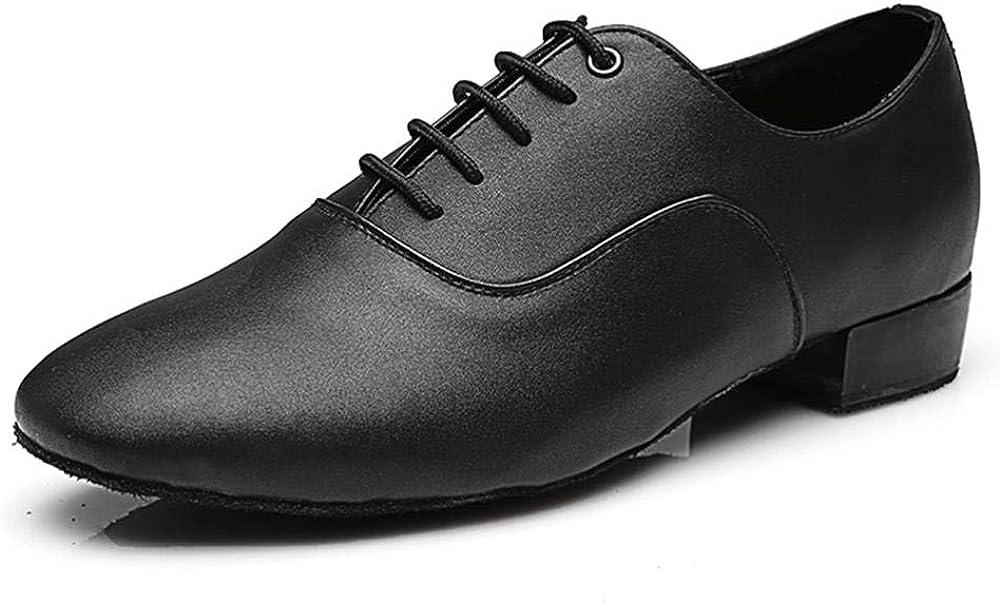 JINGXINSTORE de los Hombres Redondo Dedo del pie Cuero Masculino Tango Salón de Baile latín Jazz Moderno Danza Zapatos