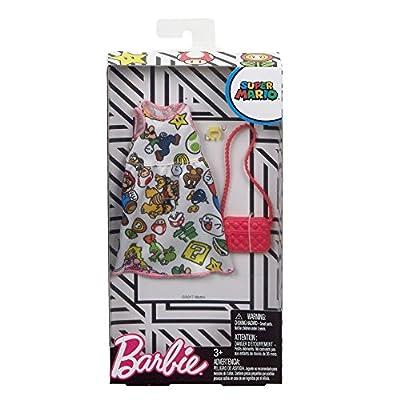 Barbie Super Mario White Dress Fashion: Toys & Games