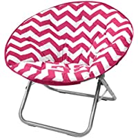 Urban Shop Chevron Saucer Chair, Pink