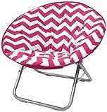 Urban Shop Chevron Saucer Chair, Pink