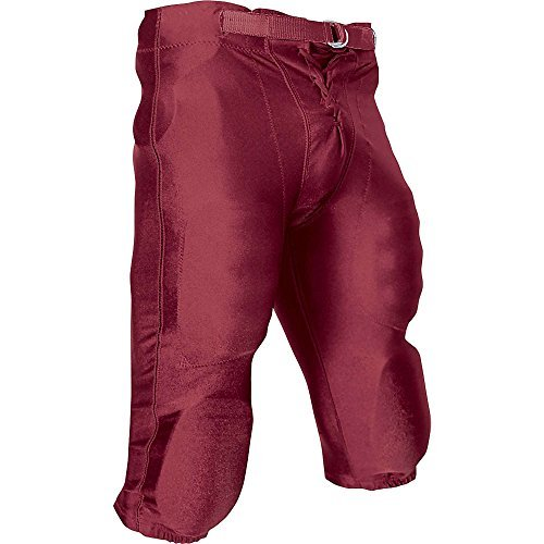 CHAMPRO Youth Stretch Dazzle Snap Football Pant Maroon Medium