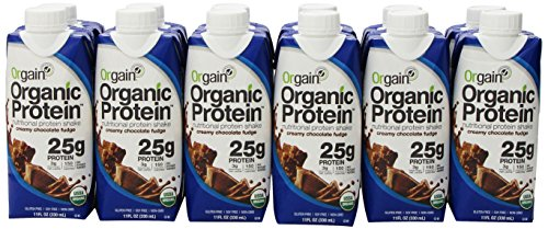 Orgain Organic Protein Shake, Creamy Chocolate Fudge, 11 Ounce, 12 Count