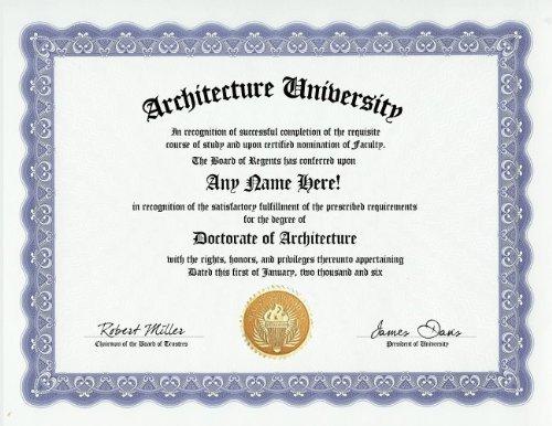 Amazoncom Architecture Degree Custom Gag Diploma Doctorate