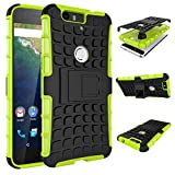 Huawei Nexus 6P Case, SsHhUu Tough Heavy Duty Shock Proof Defender Cover Dual Layer Armor Combo Protective Hard Case Cover for Huawei Nexus 6P 5.7 Inch (Green)