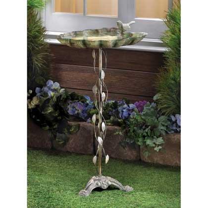 Birdbaths Verdigris Leaf Metal Cast Iron Bowl Molds Outdoor Tiffany style Bird Visitor Water Feeder Liner