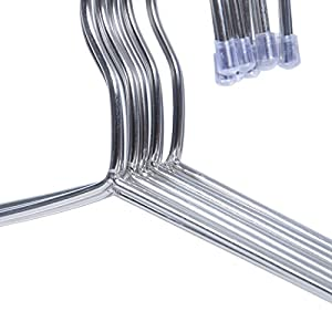 Ecrocy 30 Pack Strong Stainless Steel Hangers - 4mm Diameter 17.7 Inch