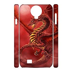 QSWHXN Cell phone Cases Red Dragon Hard 3D Case For Samsung Galaxy S4 i9500