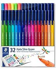 Staedtler Triplus Colour - Estuche con rotuladores de punta de fibra, color Assorted Pack of 32