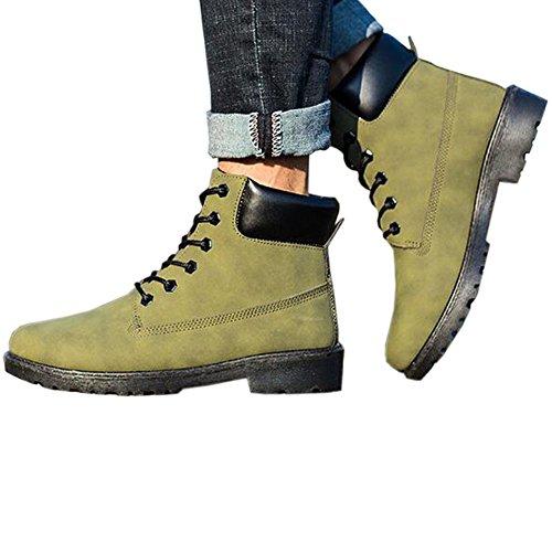 Hzjundasi Neue Mens Casual Stiefel Ankle Boot Schuhe Trainer Lace Up Walking Work Schuhe Armeegrün