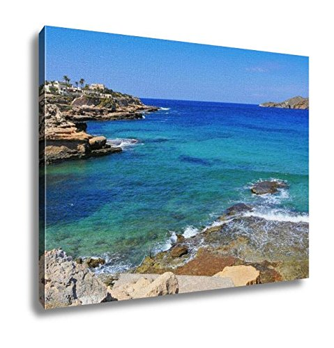 Ashley Canvas, View Of The Cliffy Coast Of Sant Josep In The Southwest Of Ibiza Island Spain, Home Decoration Office, Ready to Hang, 20x25, AG6533698 by Ashley Canvas
