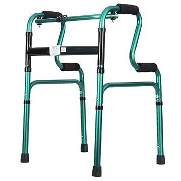 Andador plegable para ancianos, andadores ligeros, con ruedas de ...