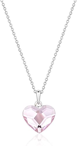 Beautiful Heart Necklace Made with Swarovski Crystals Silver//Gold Valentine Gift