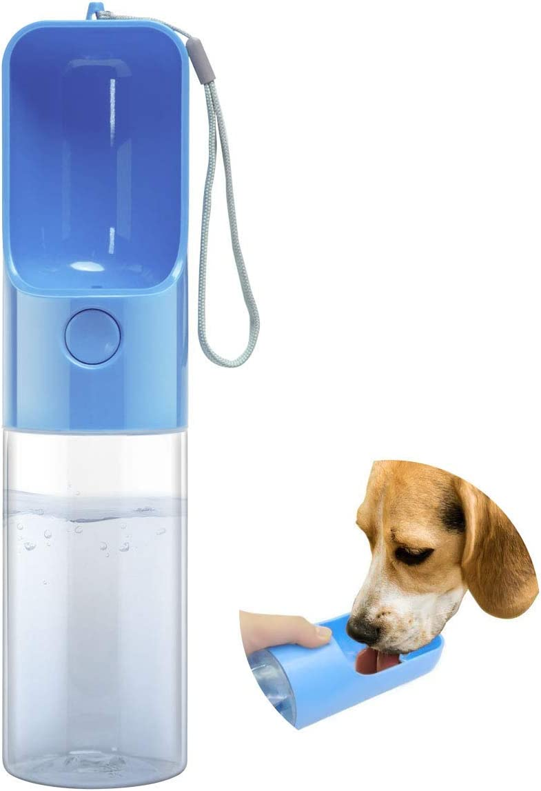Esing Portable Dog Water Bottle for Walking with Feeding Cup