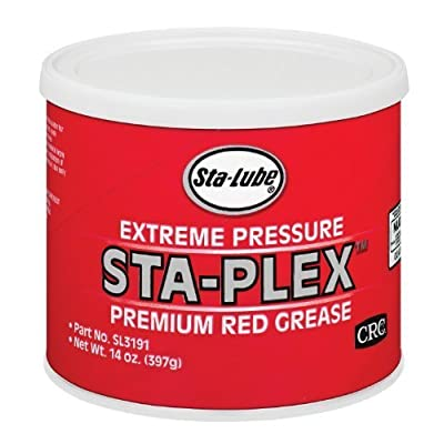 Sta-Lube Sta-Plex Extreme Pressure - 14-Ounce Can Premium Red Grease by CRC