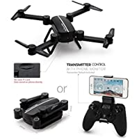 Secba 3xBattery+Foldable Quadcopter Q9W MINI wifi HD Camera Drone UFO RC 2.4Ghz RTF (Black)