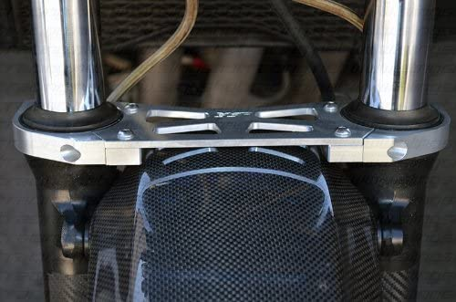 Red Kawasaki ZRX 1200 ZRX1200 ZRX1200R ZZR1200 Front Fork Suspension Brace Stabilizer