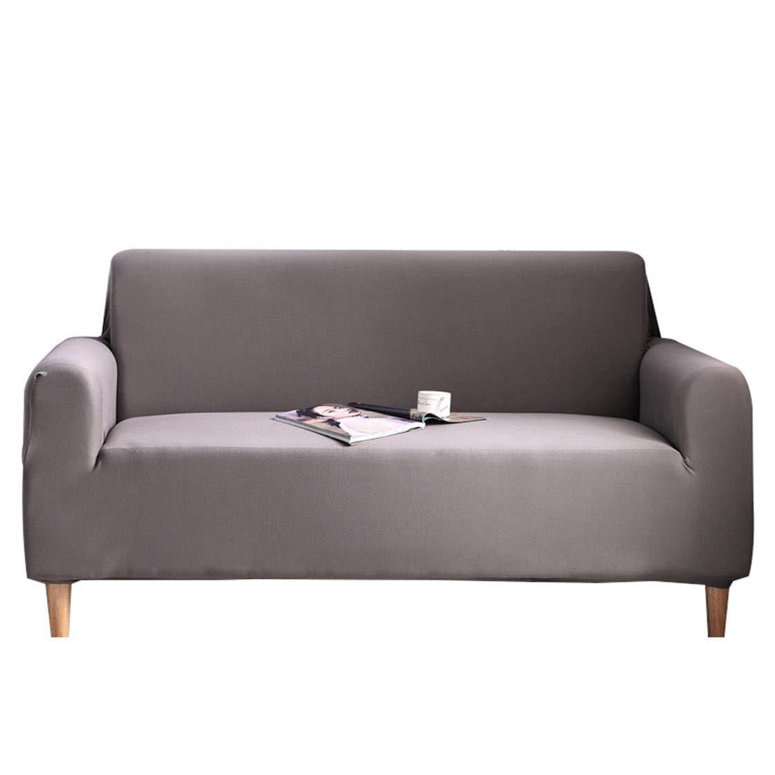 TXVSO Home Sofá Funda de Color sólido Cubierta de Tejido elástico Fácil Ajuste elástico Protector de sofá Lavable, Anti-ácaros y Antiarrugas (3 ...