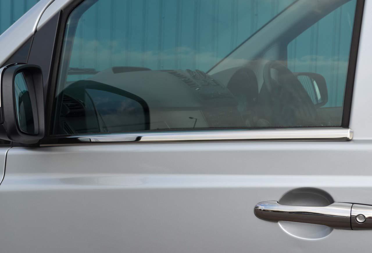 Chrome porta laterale davanzale Trim set Covers to fit Vito W639 (03 –  14) ALVM Parts & Accessories