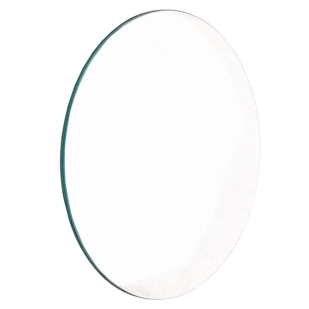 UEETEK 55mm Diameter Scientific Polished Glass Double-Convex Lens Labs Optical Glass Lens Bi-Convex