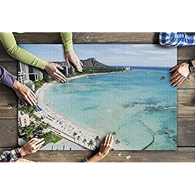 Honolulu, Hawaii - Waikiki Beach and Diamond Head with Tropical Blue Waters 9004510 (Premium 1000 Piece Jigsaw Puzzle for Adults, 20x30, Made in USA!): Toys & Games