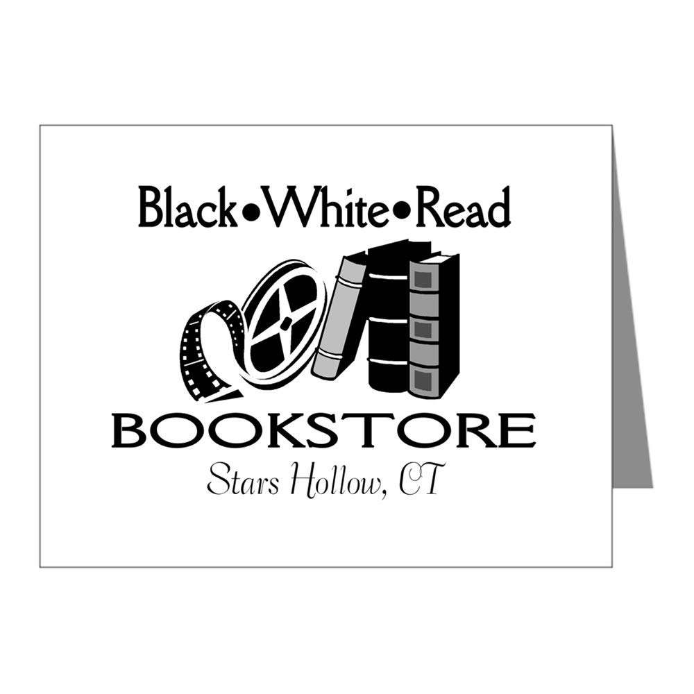 CafePress Black White Read Movie Theat Blank Note Cards (Pk of 10) Glossy by CafePress (Image #2)