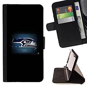 For Apple Iphone 5C Seattle Seahawk Beautiful Print Wallet Leather Case Cover With Credit Card Slots And Stand Function