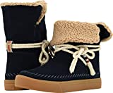 TOMS Women's Vista Water-Resistant Boot Navy Suede/Faux Shearling 12 B US