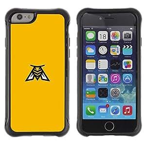 Suave TPU GEL Carcasa Funda Silicona Blando Estuche Caso de protección (para) Apple Iphone 6 / CECELL Phone case / / yellow Bee /