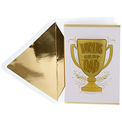Hallmark Signature Father's Day Greeting Card (World's Best Dad Trophy)