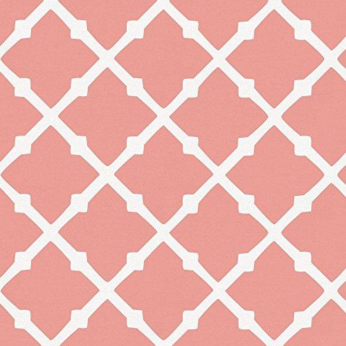 Carousel Designs Light Coral Lattice Cradle Sheet