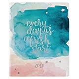 Erin Condren 2018 Hardbound LifePlanner-Watercolor Splash Quote, 8x10