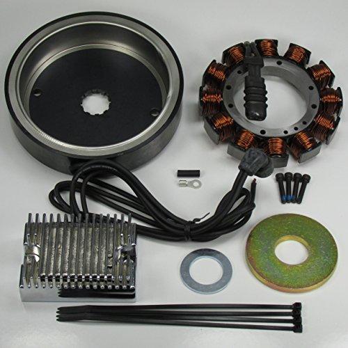 High Performance 32 Amp Alternator Charging System for 1970-1984 Shovelhead and 1984-1999